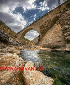 پل راه آهن بر روی رود سزار